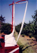 birdnetting applicator drapeover cherries vineyard